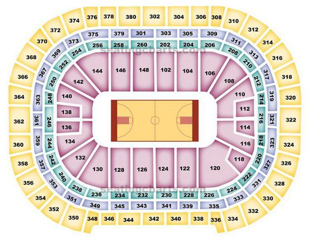 Denver Nuggets Seating Chart for Pepsi Center